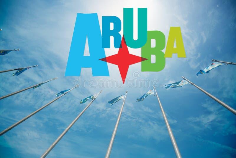 Aruba tropical island stock photography