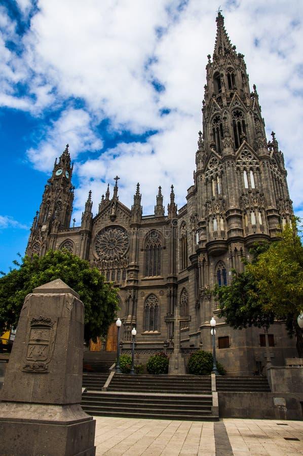 Arucas Kathedraal, Grote Kanarie stock foto