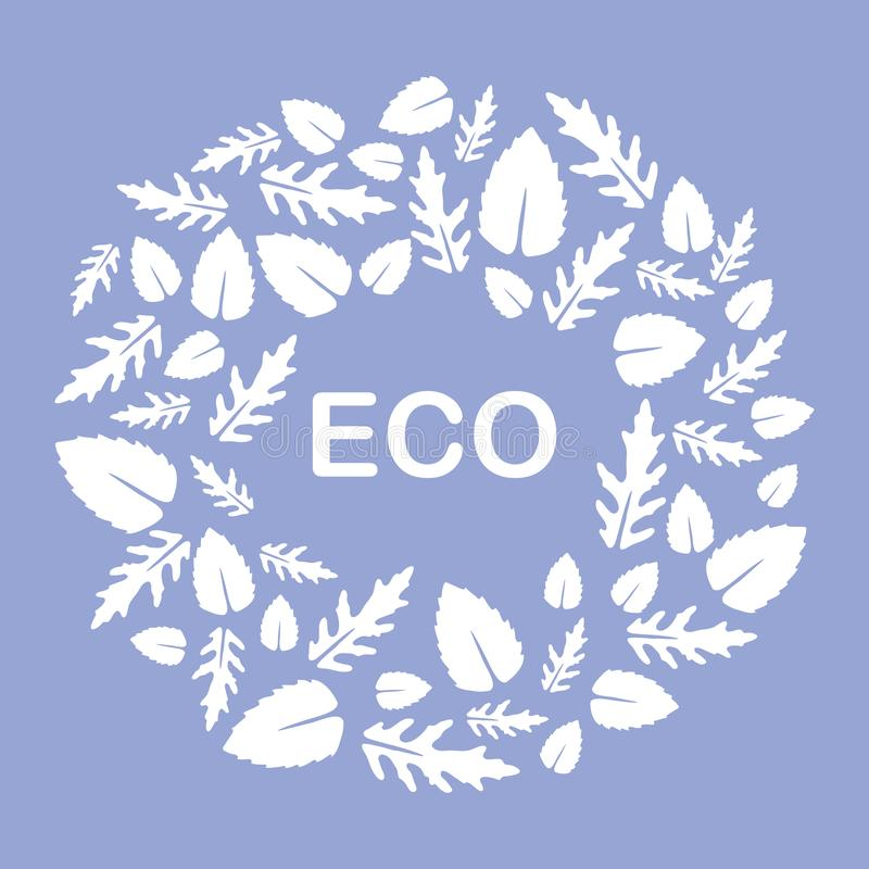 Arugula, basil leaves. Eco, vegan, bio, organic. Vector illustration with arugula and basil leaves. Eco design. Vegan, natural, bio. Organic background. Design vector illustration