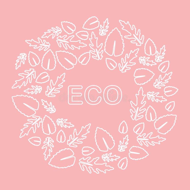 Arugula, basil leaves. Eco, vegan, bio, organic. Vector. Vector illustration with arugula and basil leaves. Eco design. Vegan, natural, bio. Organic background vector illustration