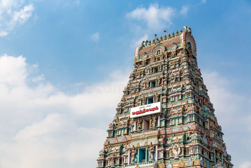 Arulmigu Marundeeswarar świątynia, Chennai, tamil nadu, India zdjęcie royalty free