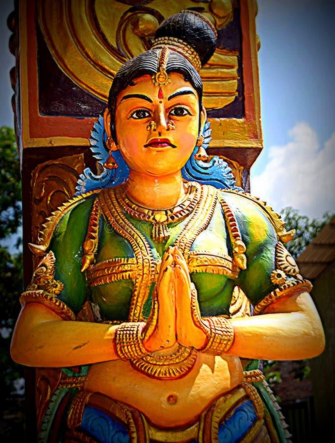 Arulmigu Sri Muthumari阿曼Kovil印度寺庙, Matale,斯里兰卡 库存照片