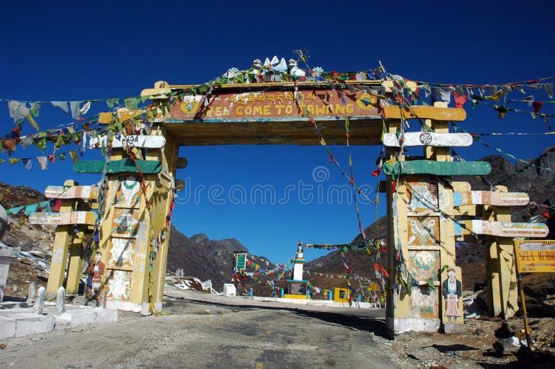 arunachal ingångspradeshtawang till sikten arkivbilder