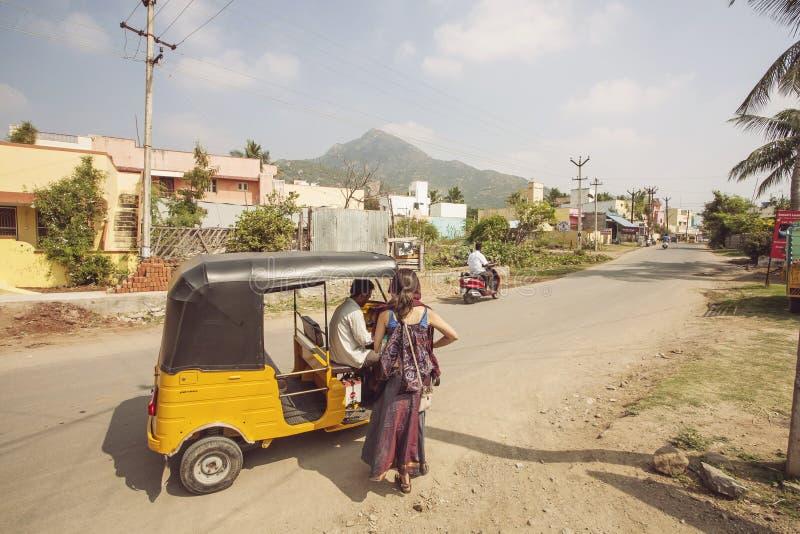 Arunachala, Tiruvannamalai/Tamil Nadu/Indien lizenzfreies stockbild