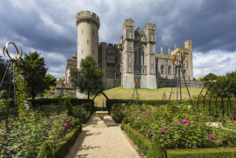 Arundel castle gardens royalty free stock image