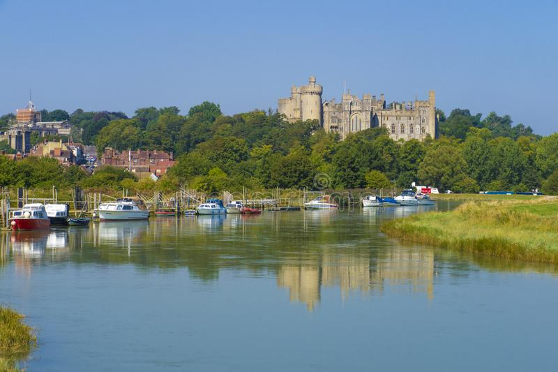 Arundel Castle & River Arun ,West Sussex, England UK royalty free stock photo
