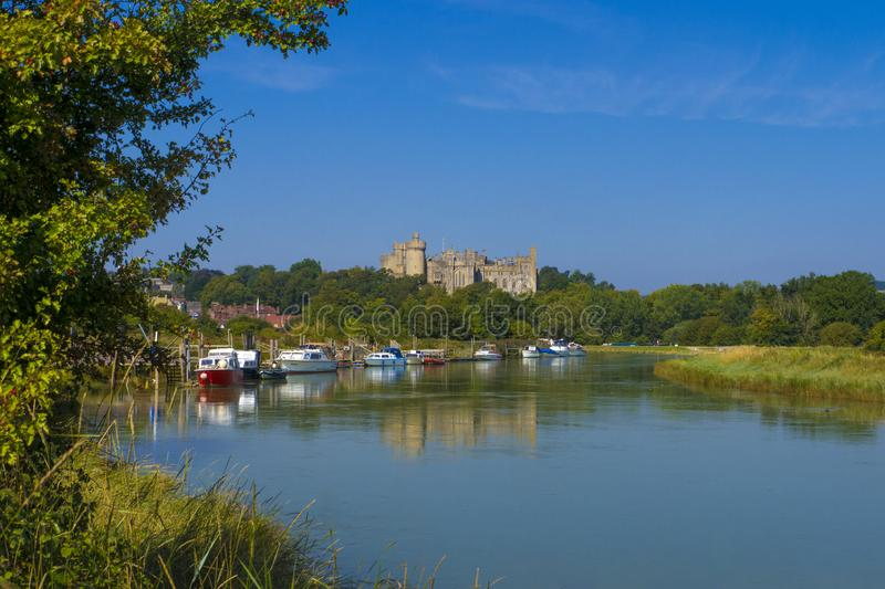 Arundel Castle & River Arun ,West Sussex, England UK royalty free stock photos