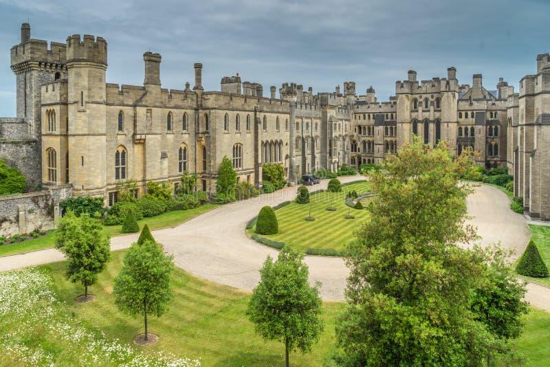 Arundel kasztelu podwórze zdjęcia royalty free