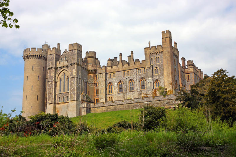 arundel slott royaltyfri fotografi