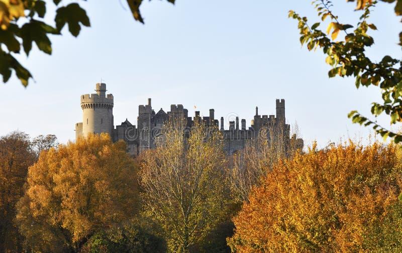 arundel slott royaltyfri bild