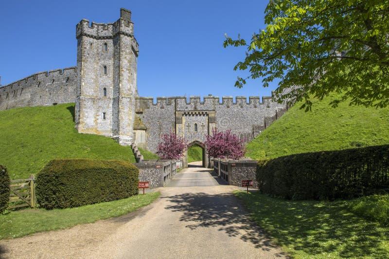 Arundel slott i Sussex arkivbild