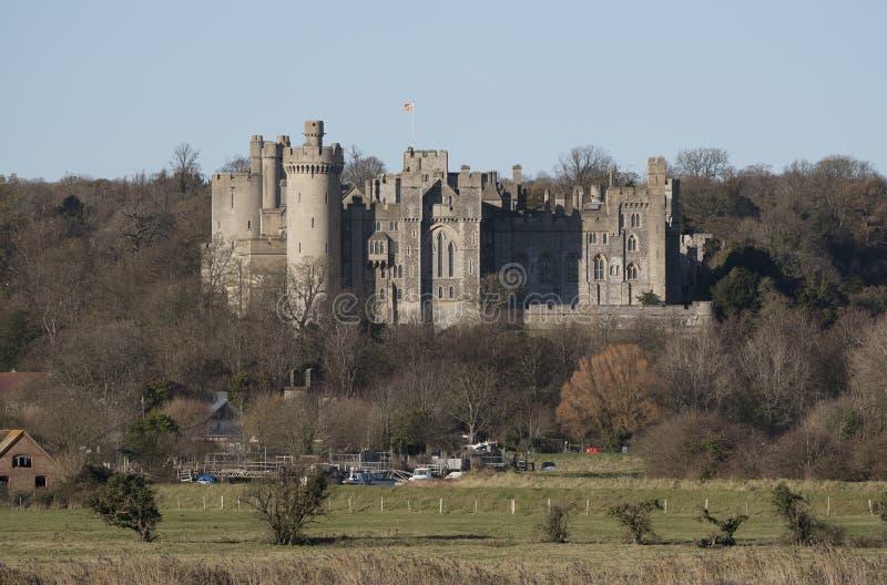 Arundel slott sydliga England UK arkivfoton