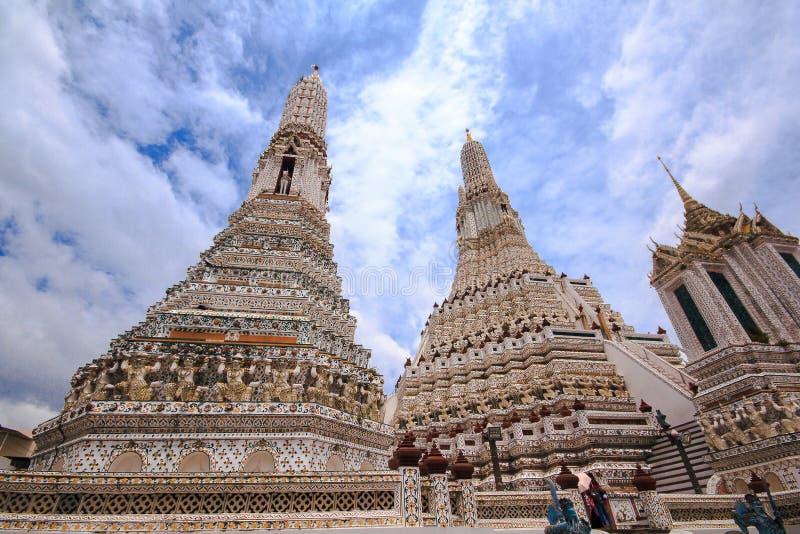 Arunratchawararam-Tempel ist ein wichtiges und ein alt stockfotos