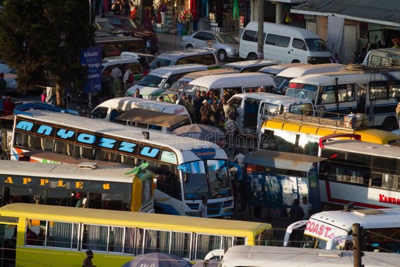Arusha station. Crowded arusha statiion in tanzania royalty free stock image