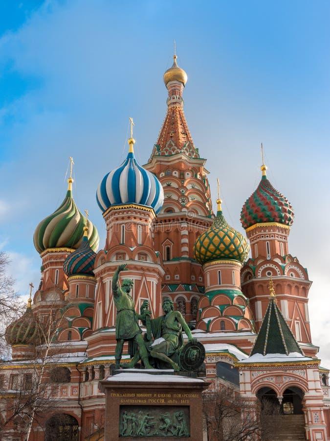 Arv för värld för domkyrka för St-basilika` s i Ryssland arkivfoto
