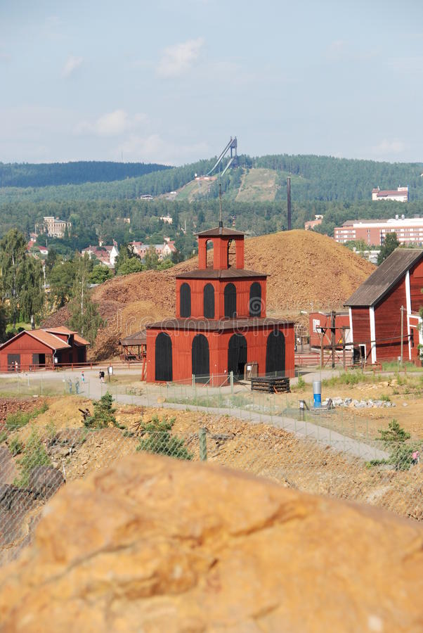 Arv för värld för Falun kopparminUNESCO royaltyfria foton