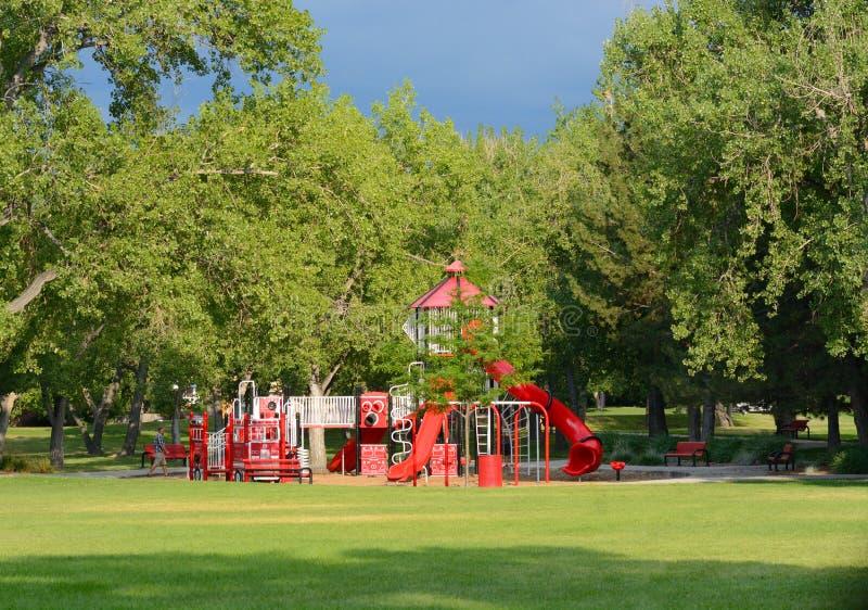 Arvada-Freiwillig-Feuerwehrmann-Park stockfoto