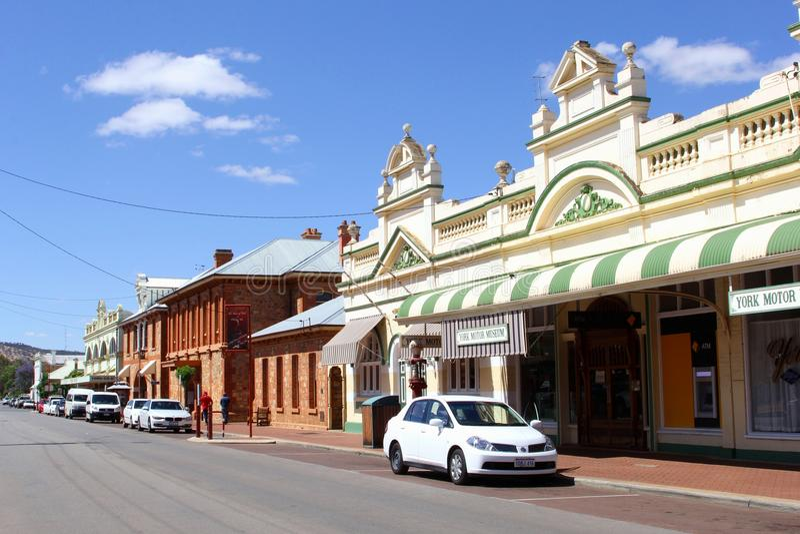 Arvbyggnader i York, den äldsta inlands- staden av västra Australien royaltyfri fotografi