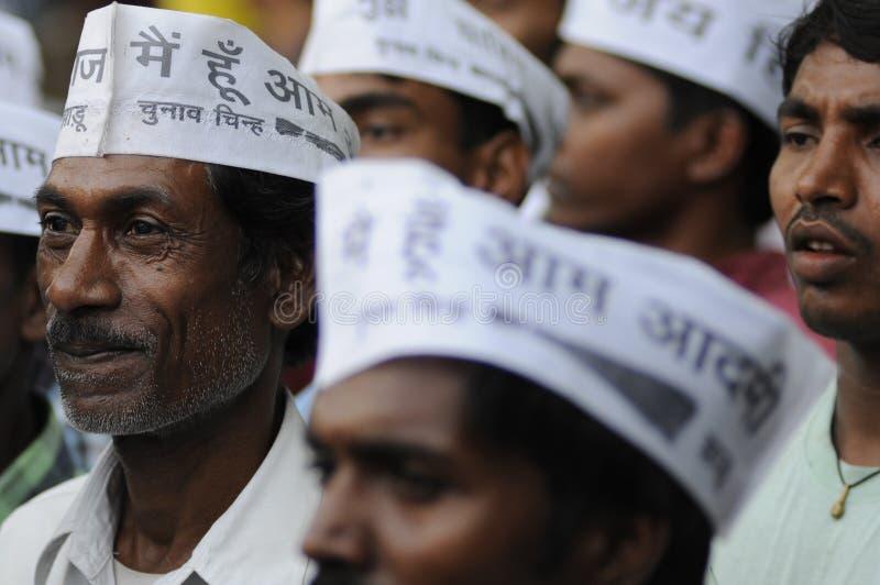 Arvind Kejriwal przy Sarnath, India obrazy royalty free