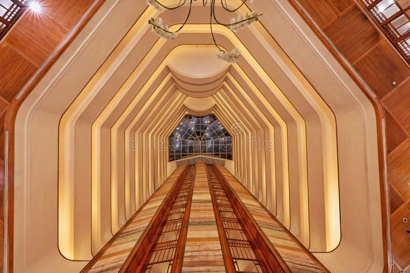 Aryaduta旅馆大厅万隆西爪哇省印度尼西亚 免版税库存照片