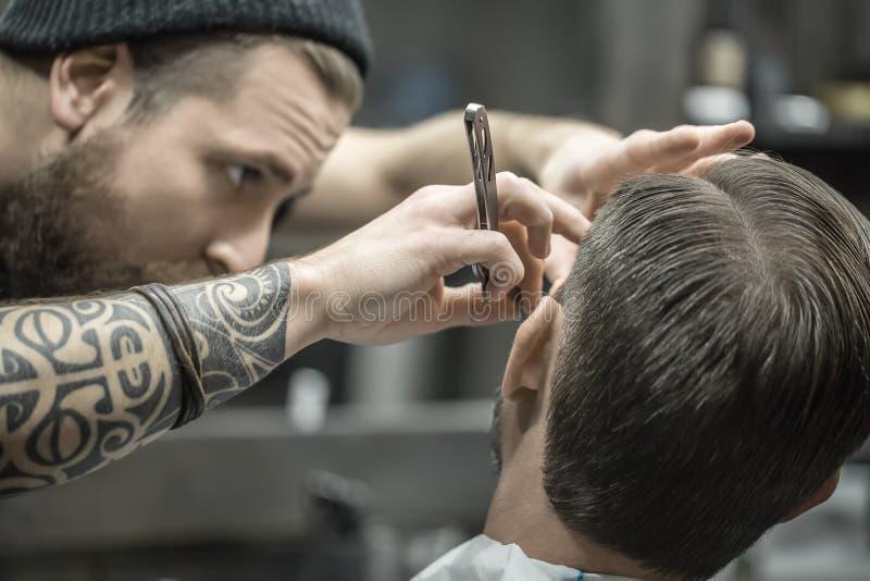 Arymaż broda w zakładzie fryzjerskim zdjęcie stock