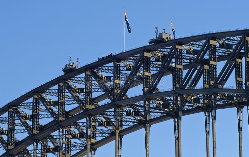 Arywiści na górze Sydney schronienia mosta zdjęcie royalty free