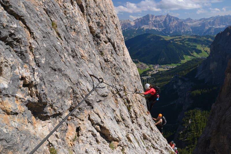 Arywiści Wspinaczkowy Up Brigata Tridentina zdjęcie stock