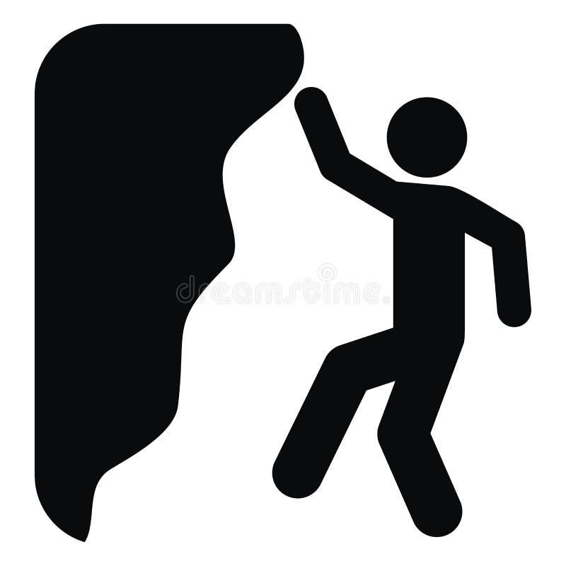 Arywista, czarna sylwetka, niebezpieczeństwo spadać ilustracji