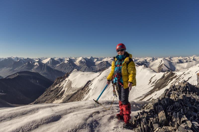 Arywista na górze góry w Kirgistan obraz royalty free
