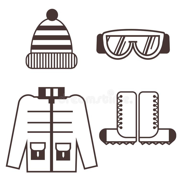Arywista odzieżowe ikony ilustracji