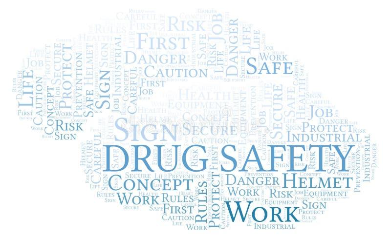 Arzneimittelsicherheitswortwolke stock abbildung