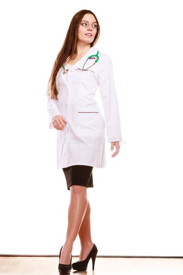 Arzt der Frau mit Stethoskop Sträflinge und Arme stockfoto