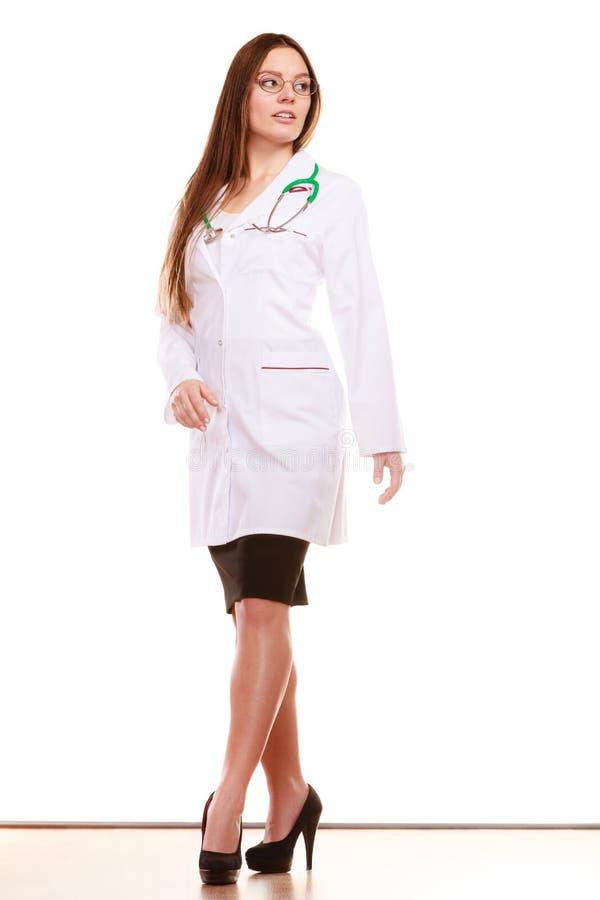 Arzt der Frau mit Stethoskop Sträflinge und Arme lizenzfreies stockbild