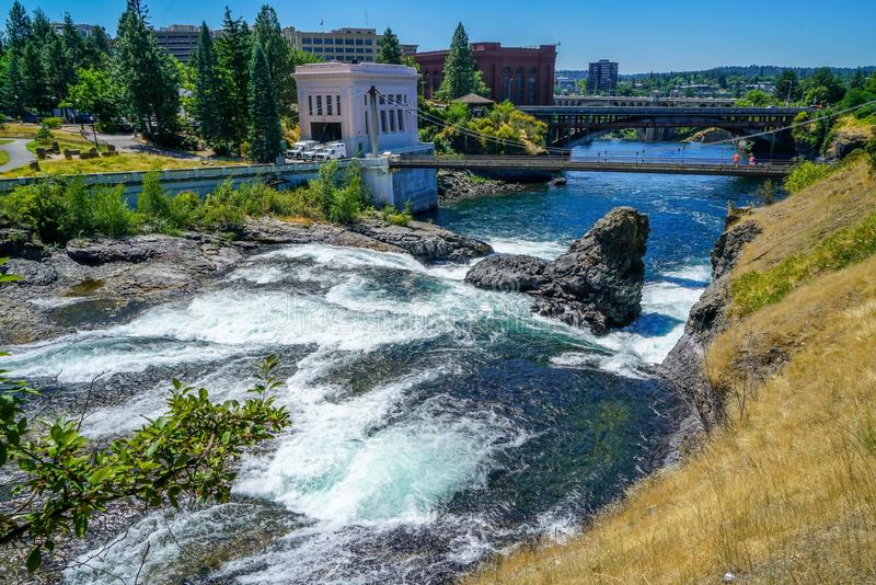 As águas gasosas dos rios imagens de stock royalty free