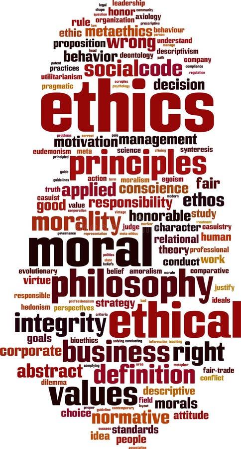 As éticas exprimem a nuvem ilustração stock