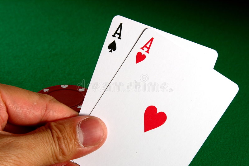 As 2 del póker foto de archivo