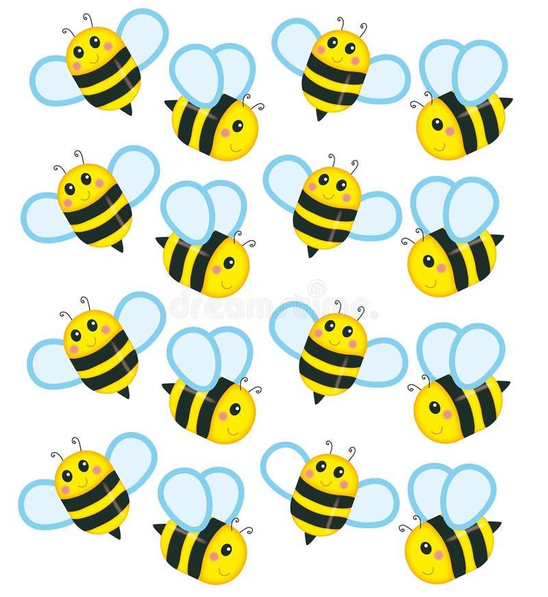 As abelhas pequenas ilustração do vetor