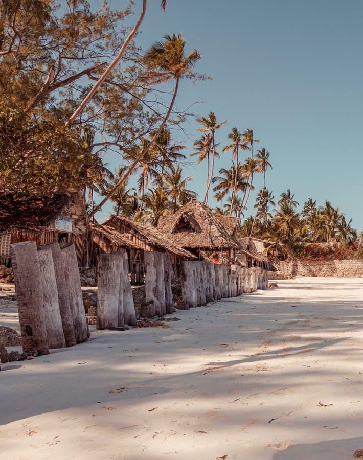 As areias brancas de Uroa encalham, baía de Uroa, Zanzibar foto de stock royalty free