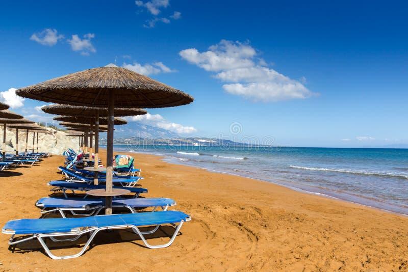 As areias vermelhas do xsi encalham, Kefalonia, ilhas Ionian, Grécia fotos de stock
