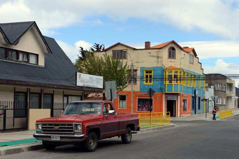 As arenas de Punta são uma cidade no Chile imagem de stock