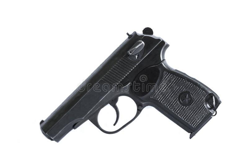 As armas de fogo atiram em um fundo e em uma textura foto de stock royalty free