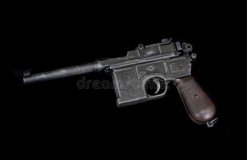 As armas históricas velhas, pist autoflutuante de Mauser K 96 do alemão foto de stock