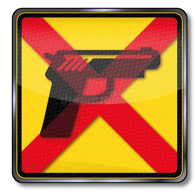 As armas são proibidas ilustração do vetor