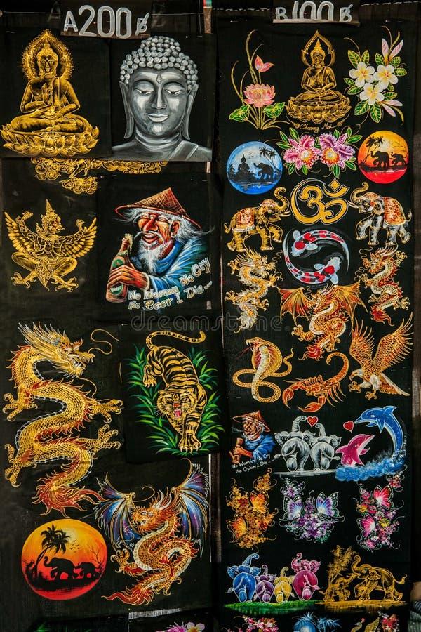 As artes feitos a mão de Chiang Mai, de Tailândia e os ofícios projetam fotografia de stock royalty free