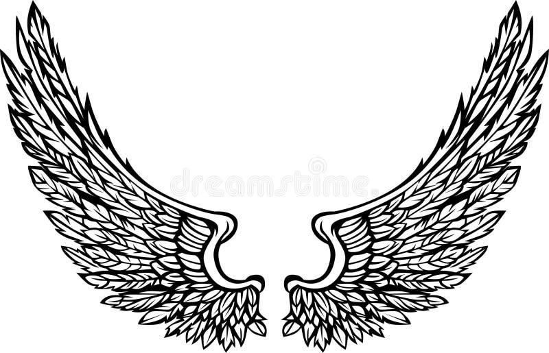 As asas ornamentado Vector a imagem ilustração royalty free