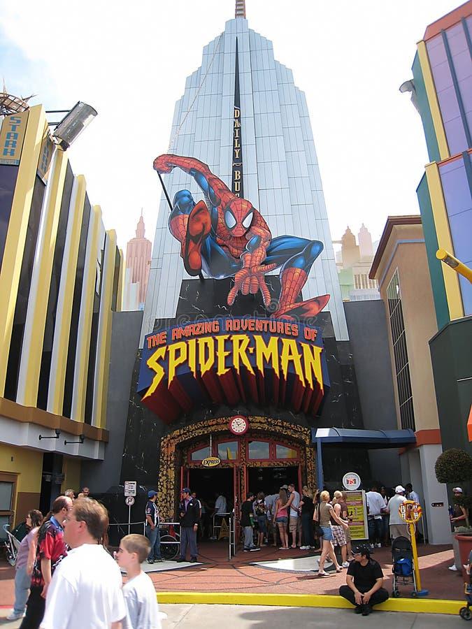 As aventuras surpreendentes de Spider-Man, estúdios universais fotografia de stock royalty free