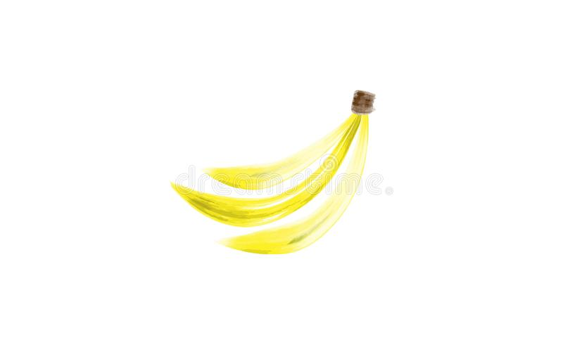 As bananas entregam tirado com watercolour ilustração royalty free