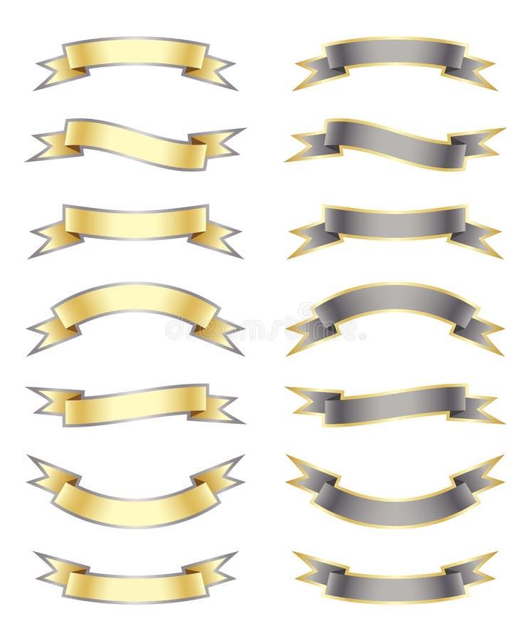 As bandeiras da fita ajustaram 2 ilustração royalty free