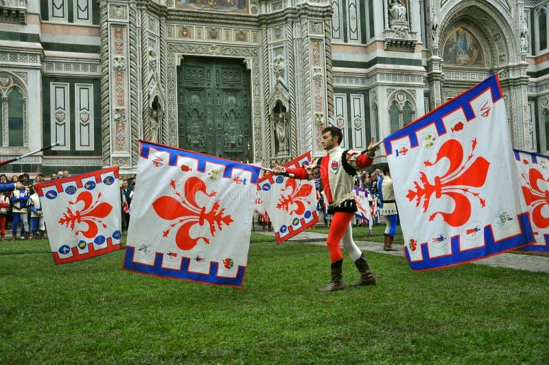 As bandeiras mostram em Florença fotos de stock