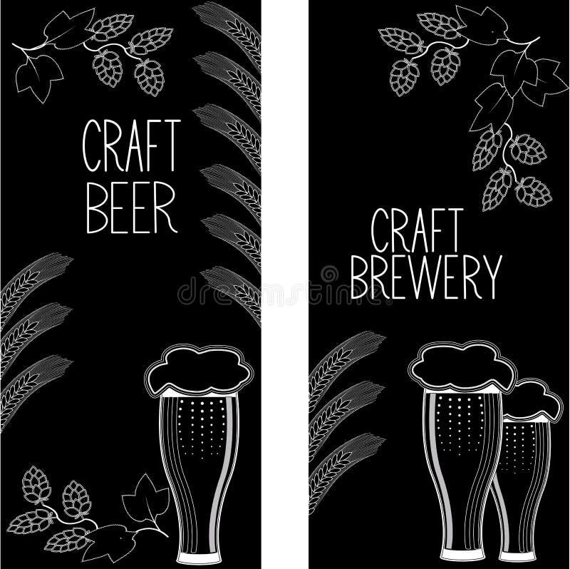 As bandeiras verticais da cerveja ajustaram 1 ilustração royalty free